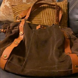 LUCKY brown suede bag